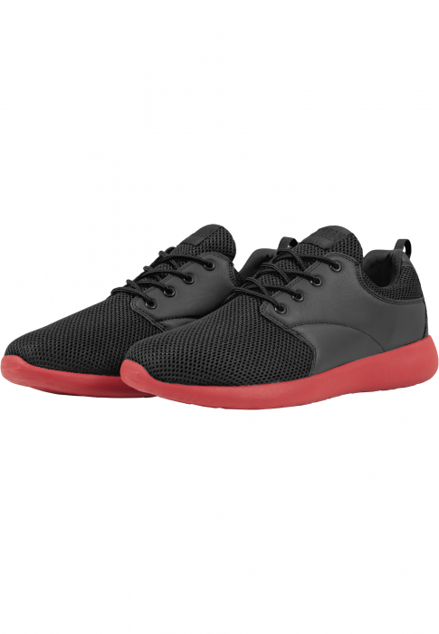 Urban Classics Light Runner Shoe Low-Sneaker Schwarz Rot