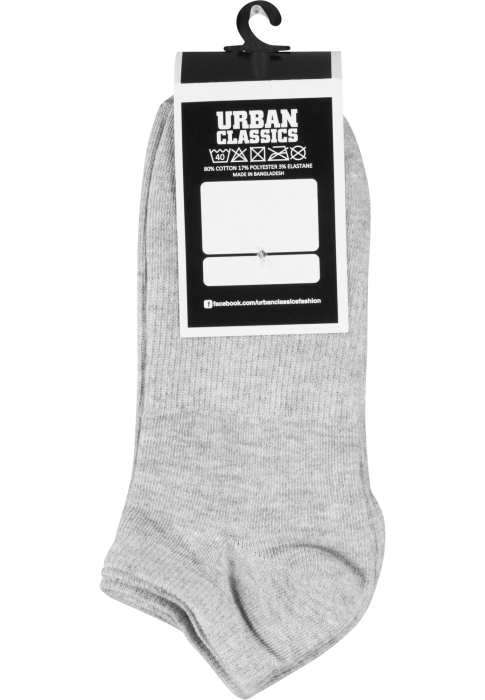 Urban Classics No Show Socks -Pack Herren Socken Grau