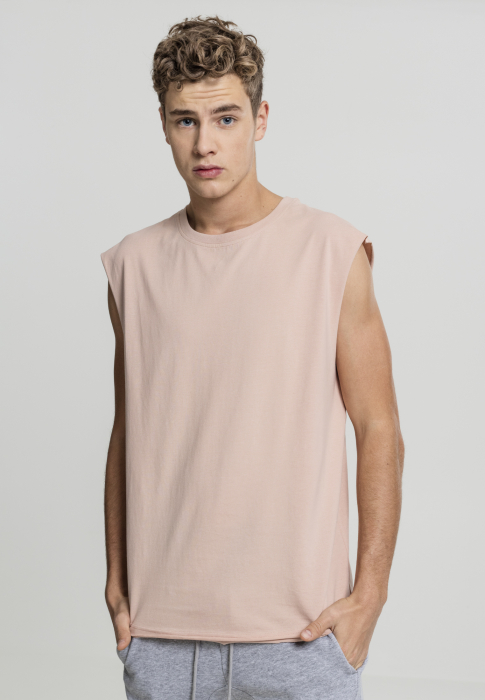 Urban Classics Open Edge Sleeveless Tee Herren T-Shirt Rosa