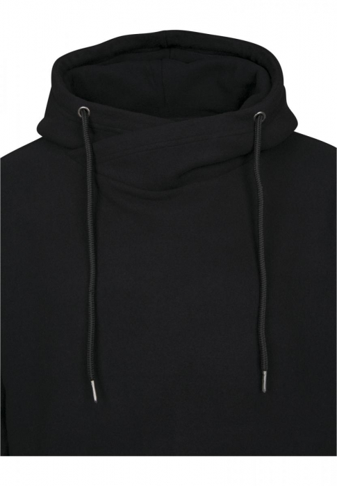 Urban Classics Polar Fleece High Neck Herren Hoodie Schwarz