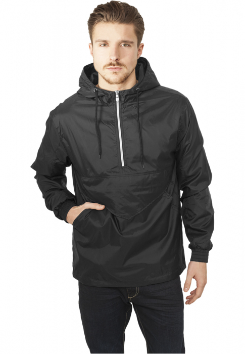 Urban Classics Pull Over Herren Windbreaker Schwarz