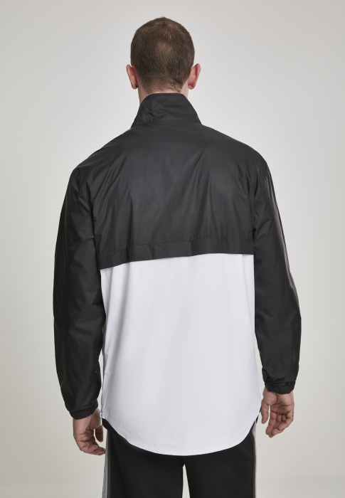 Urban Classics Stand Up Collar Pull Over Men Transition Jacket black white
