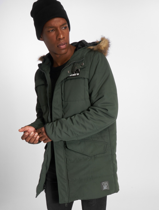 Who Shot Ya Battle Bass Men Winter Jacket olive