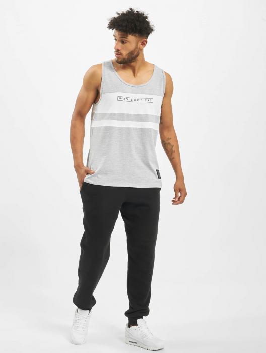 Who Shot Ya Force Herren Tank Top Grau
