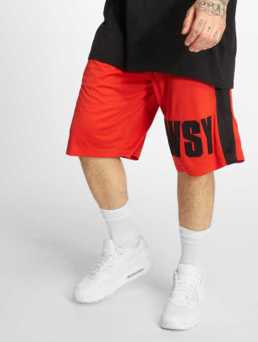 Who Shot Ya Whoshot Y Herren Shorts Rot